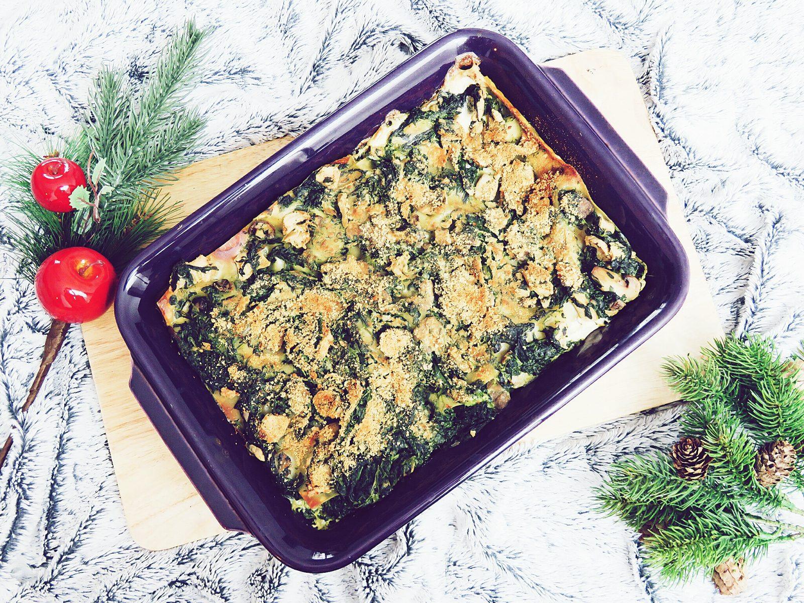 Repas de fêtes : le plat principal, lasagnes végétaliennes